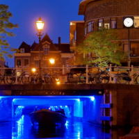 Blue Light Blue Hour Leiden
