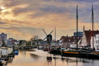 Historical harbour Leiden