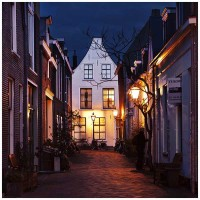 Leiden at Night alley